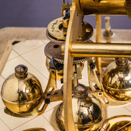 The Core by Bogdan Rusu - Artistic Objects Still Life ( gold, ball, escapement, clock, close )