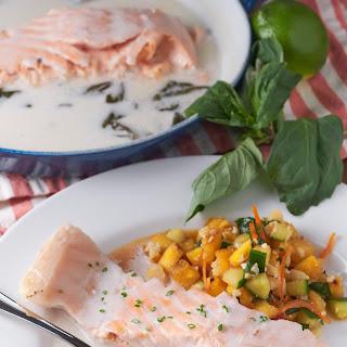 Salmon Poached in Coconut Milk Recipe