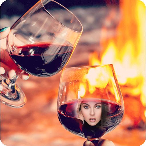 Wine Glass Photo Frame Maker