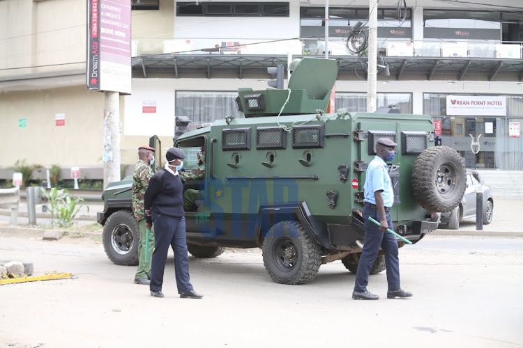 Police officers at General Waruinge Street on May 21, 2020.