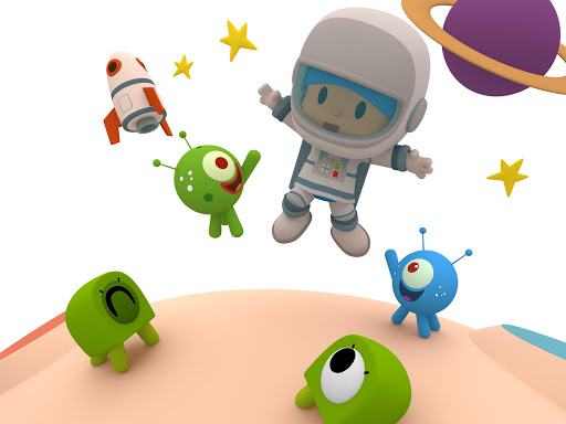 Pocoyo 1, 2, 3 Space Adventure: Discover the Stars apkpoly screenshots 15