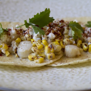 Street Corn and Scallop Tacos