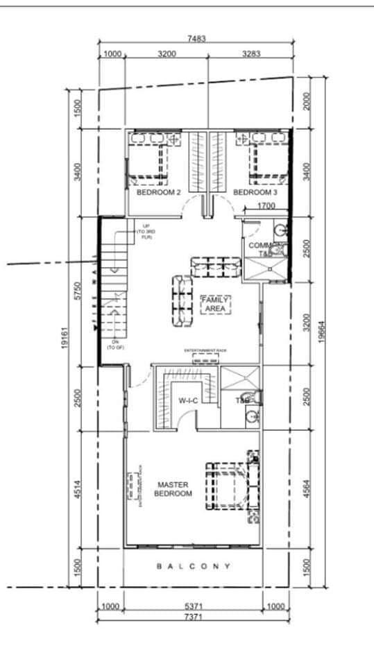 8 Bedroom Townhouse in Tandang Sora, Mindanao Avenue, Quezon City second floor plan
