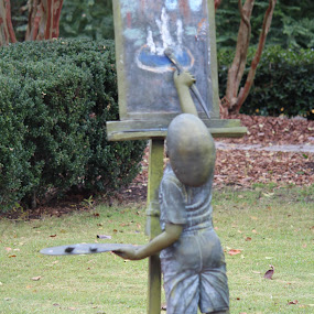 Young Artist by Rohan Jackson - Buildings & Architecture Statues & Monuments