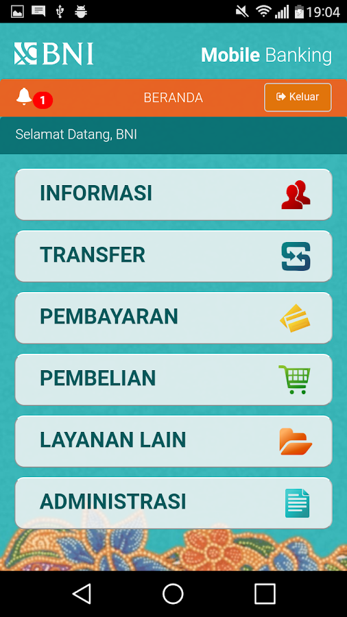 BNI Mobile Banking- screenshot