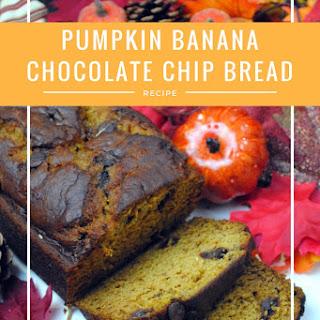 Pumpkin and Banana Chocolate Chip Bread Recipe