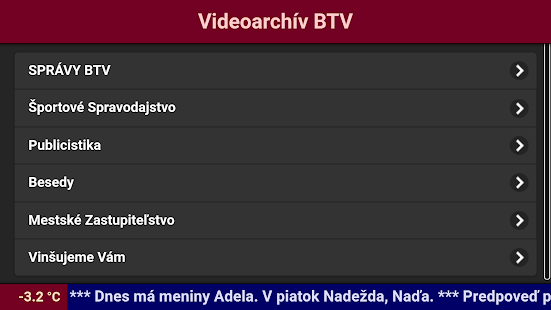 Videoarchiv BTV- screenshot thumbnail