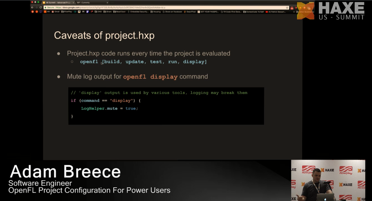 Caveats of project.hxp