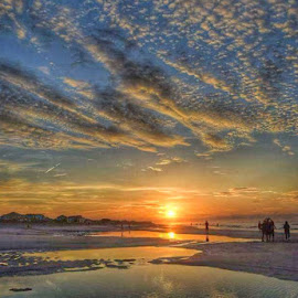 Sunrise walk by Blair Stevenson - Uncategorized All Uncategorized ( beach sunrise ocean clouds )