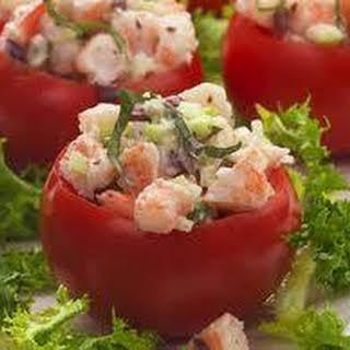 Shrimp Stuffed Creole Tomato Salad.