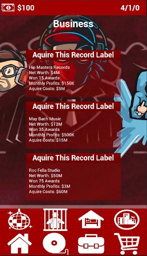 Rap City: Hiphop Career Simulator apktram screenshots 2