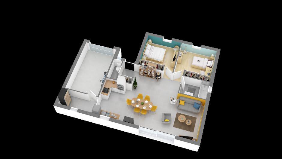 Vente maison 3 pièces 74 m² à Ambillou (37340), 148 348 €