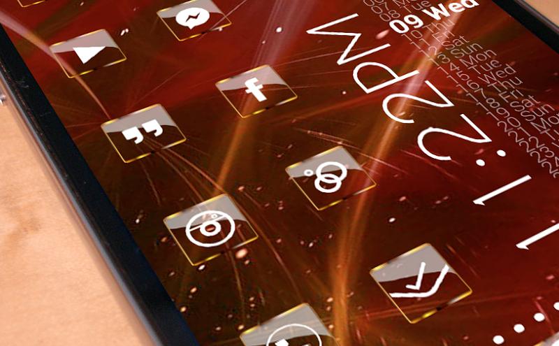 Golden Glass Nova Launcher theme Icon Pack Screenshot 1