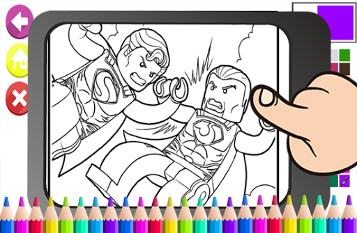 Art Legoe Coloring Page Ninja go Cartoon