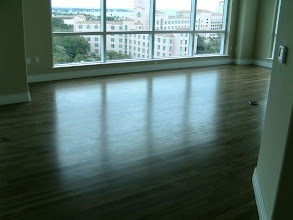 Photo: Hardwood flooring installation on 11th floor