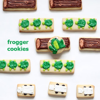 Frogger Video Game Cookies