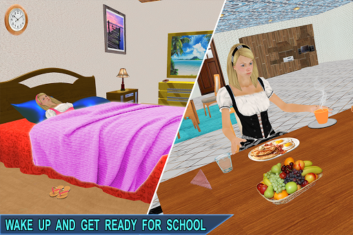 Virtual Girl Life: New High School Girl Sim android2mod screenshots 13