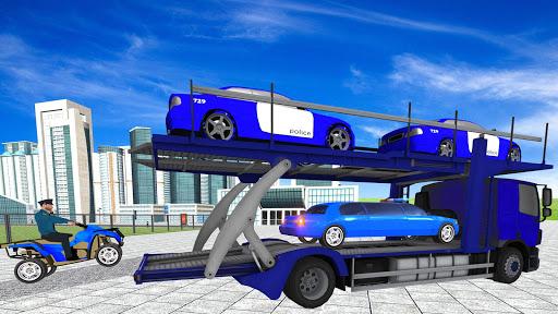 Coche de limusina de la policía estadounidense: capturas de pantalla del juego ATV Quad Transporter 7