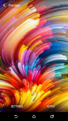 色の流れライブ壁紙