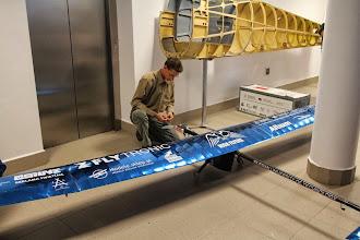 """Photo: Samolot udźwigowy """"HF-2 Heron"""" w Bezmiechowej."""