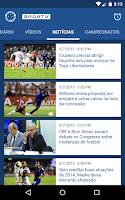 Screenshot of Cruzeiro SporTV
