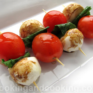 Bocconcini and Mint Skewers.