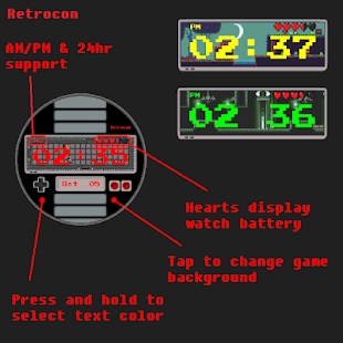 Retrocon - Watch Face Screenshot