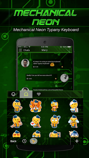 mod Mechanical Neon Emoji Keyboard 4.5 screenshots 4