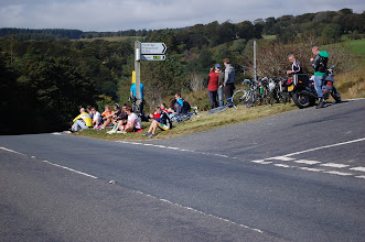 Photo: There were a lot more spectators! Many cyclists ...who no doubt needed a good rest after relatively modest exertions.