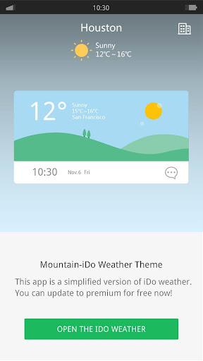 Mountain - iDO Weather widget