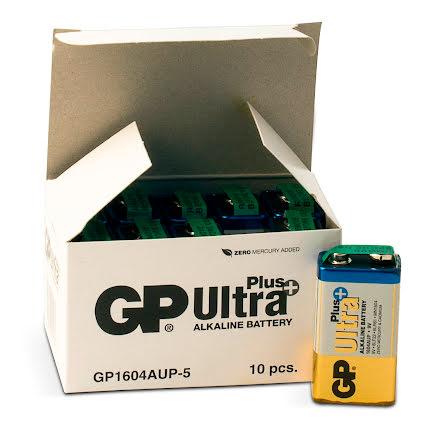 Batteri GP Ultra Plus 9V 10/fp