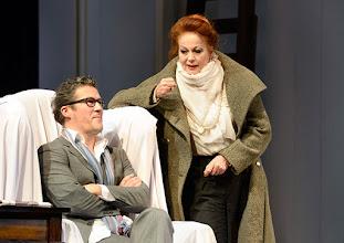 Photo: Wien/  Theater in der Josefstadt: AM ZIEL von Thomas Bernhard. Inszenierung Cesare Lievi. Premiere am 12.3.2015. Christian Nickel,  Andrea Jonasson. Foto: Barbara Zeininger