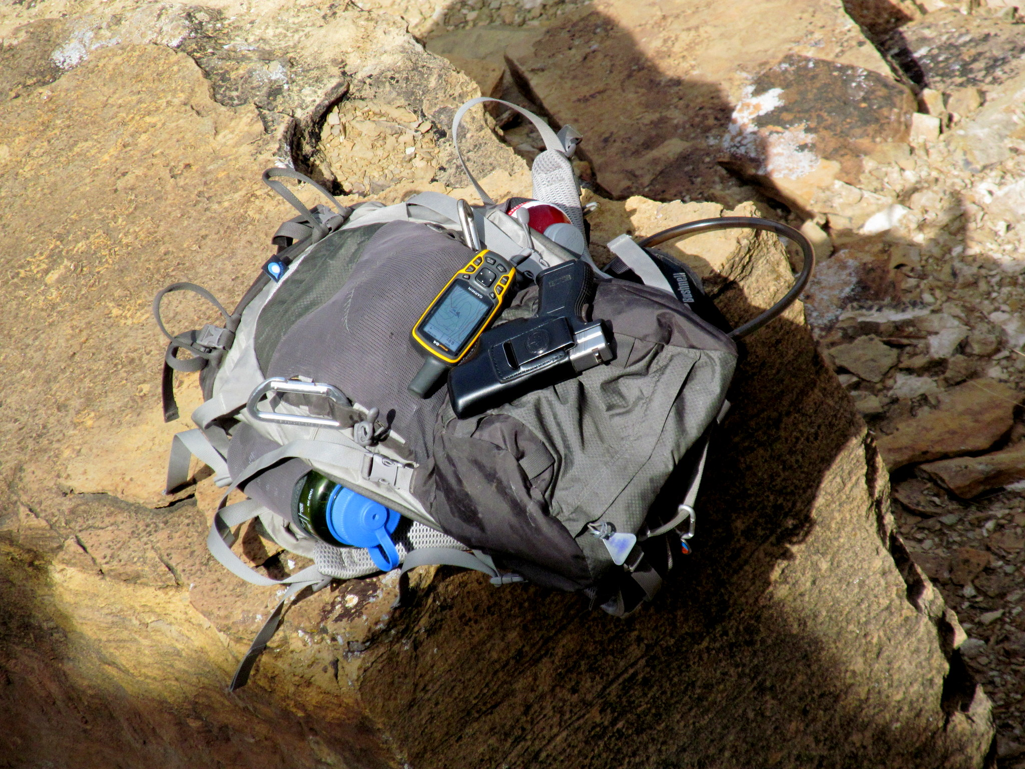 Photo: My gear below the butte