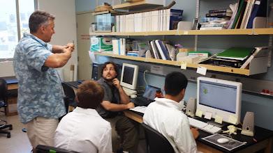 Photo: Dr. Derek Girman & Team Leader Ryan Williamson discussing some results