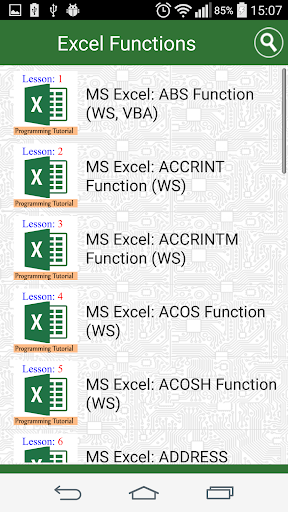 Guide Functions in Excel