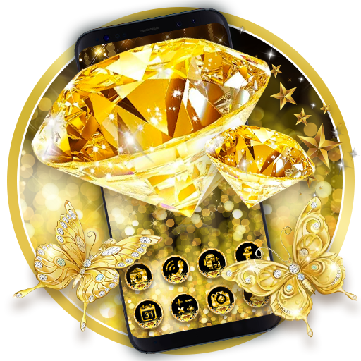 Gold Diamond Launcher Theme Live HD Wallpapers Android APK Download Free By Powerful Phone