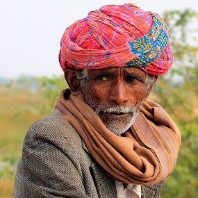 An Old Villager by Vijendra Parmar - People Portraits of Men ( senior citizen,  )
