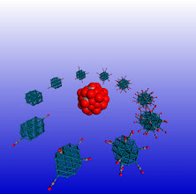 Photo: 11. The image depicts a Pd38 cubooctahedral nanclusters at various degrees of adsorbate saturation.  Dr Constantinos Zeinalipour-Yazdi, University College London Department of Chemistry.  The study of dynamic processes in catalysis and materials chemistry using accurate quantum mechanical calculations is a computationally demanding process. The high performance computing resources offered by ARCHER through the Materials Chemistry Consortium are pivotal for the performance of such calculations. In this study we explore through hybrid-DFT molecular dynamics simulations the spatial and time evolution of adsorbates on the surface of nanoclusters. This research has resulted in fascinating simulations with respect to the dynamic motion of adsorbates on the surface of nanoparticles at high coverages.