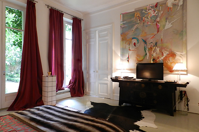 Luxury bedroom at Rue des Ursulines