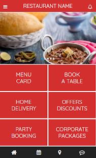 Restaurant App - náhled