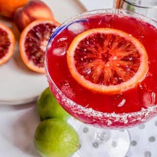Blood Orange Peachy Margarita.