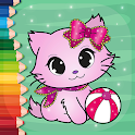 Flower Magic Color-kids coloring book with animals icon