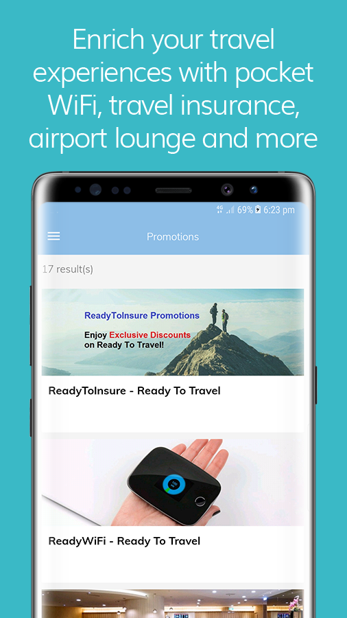 Ready To Travel By SATS: Trip Organiser- screenshot