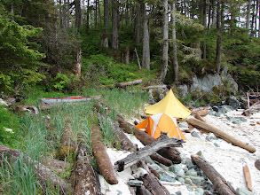Photo: My campsite west of Cape Fox looking out across Dixon Entrance.