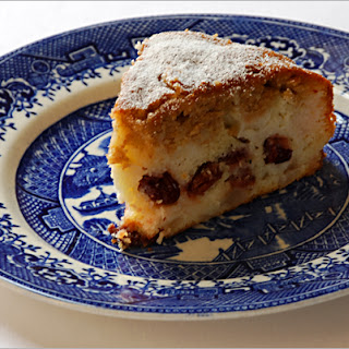 Frangipane Pear and Cherry Cake