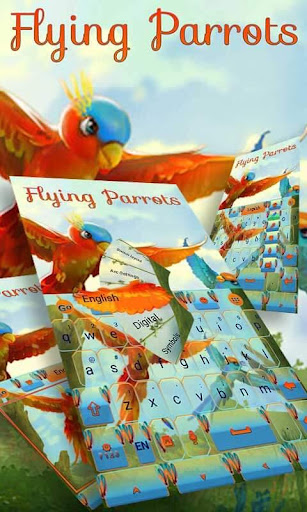 Flying Parrot Keyboard Theme