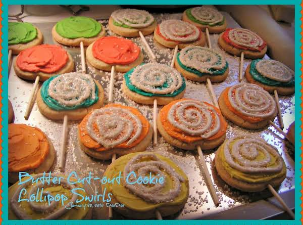 Cookies For My Granddaughter Lilly's 2nd Birthday. January 2014. I Saw A Picture Of Lollipop Cookies And Thought My Cookie Recipe Would Work Great And It Did!