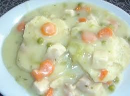 Creamed Chicken On Potato Patties Recipe