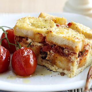 Savory Bread and Butter Bake