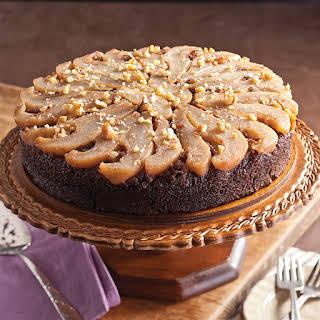 Pear Walnut Upside-Down Cake.